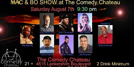 Damn Right Comedy Show with Mac & Bo at The Comedy Chateau tickets