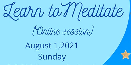 Learn to Meditate for Stress Release and Emotional Healing via Zoom tickets
