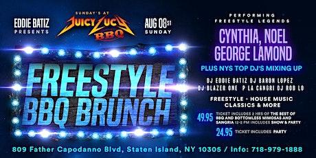 Cynthia,George Lamond,Noel @Juicy Lucy BBQ Freestyle Brunch  Sun. Aug.8th tickets