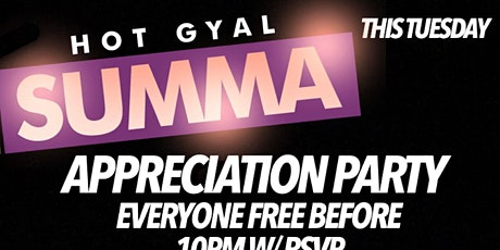 HOT GYAL SUMMA APPRECIATION PARTY @ RUM PUNCH TUESDAYS tickets
