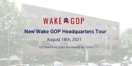 August 18th -New Wake GOP Headquarters Tour tickets