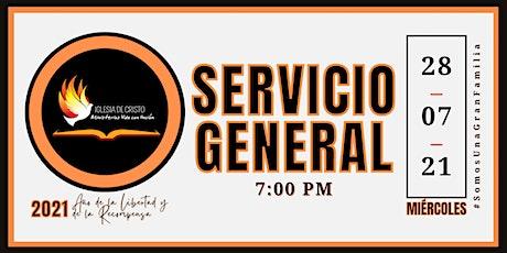 Inscripción a Servicio MVU - Miércoles 28 de Julio de 2021 entradas