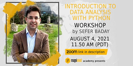 Introduction To Data Analysis with Python Workshop tickets
