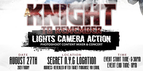 A Knight To Remember: Photoshoot Content Mixer + Concert tickets