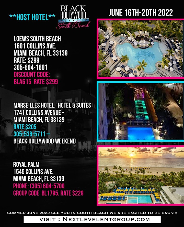 THE 5TH ANNUAL BLACK HOLLYWOOD SOUTH BEACH  WEEKEND JUNE 16TH-20TH 2022 image