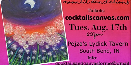 """""""Moonlit Dandelions"""" Painting Party tickets"""