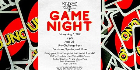 Game  Night 25+ Crowd Uno Tournament, Spades, and More tickets