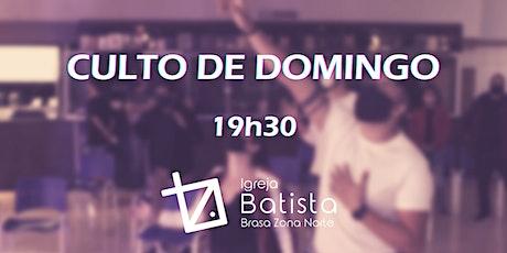Culto de Domingo BZN - 01.08.2021 - 19h30 ingressos