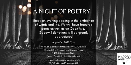 A Night Of Poetry, Featured Poets and Open Mic tickets