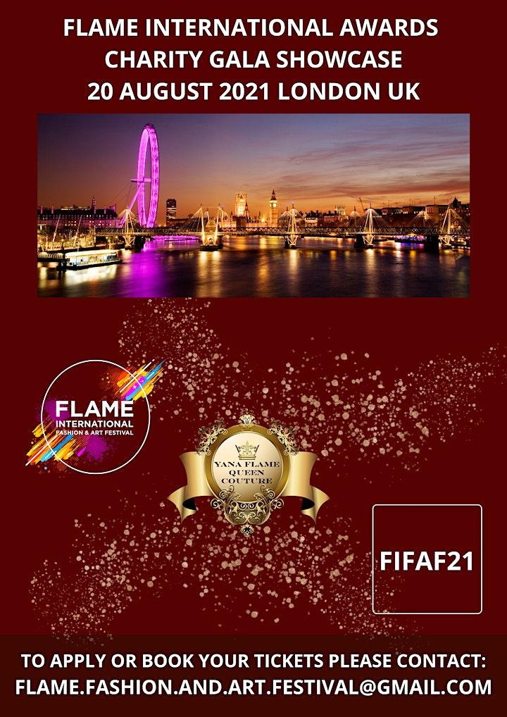 FLAME INTERNATIONAL AWARDS  CHARITY GALA SHOWCASE LONDON UK image