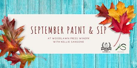 September Paint & Sip tickets