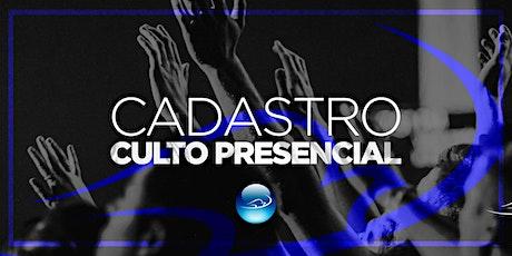 CULTO PRESENCIAL DOM 01/08 - 19h ingressos