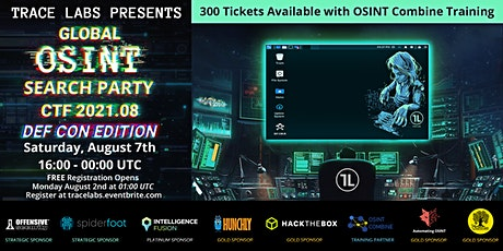 Trace Labs Global OSINT Search Party CTF 2021.08 - DEF CON Edition ingressos