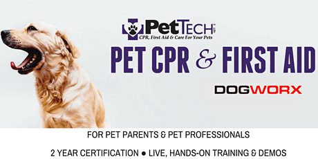 Pet CPR + First Aid Course & Certificate tickets