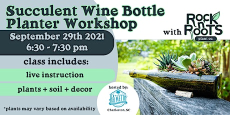 Succulent Wine Bottle Planter Workshop at Palmetto Brewing Company tickets