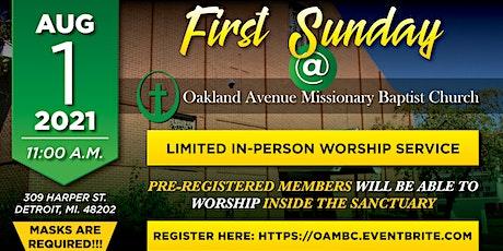 OAMBC Sunday Service 8-1-2021 tickets