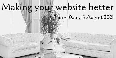 Making your website work better tickets