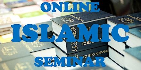 ONLINE ISLAMIC SEMINAR tickets