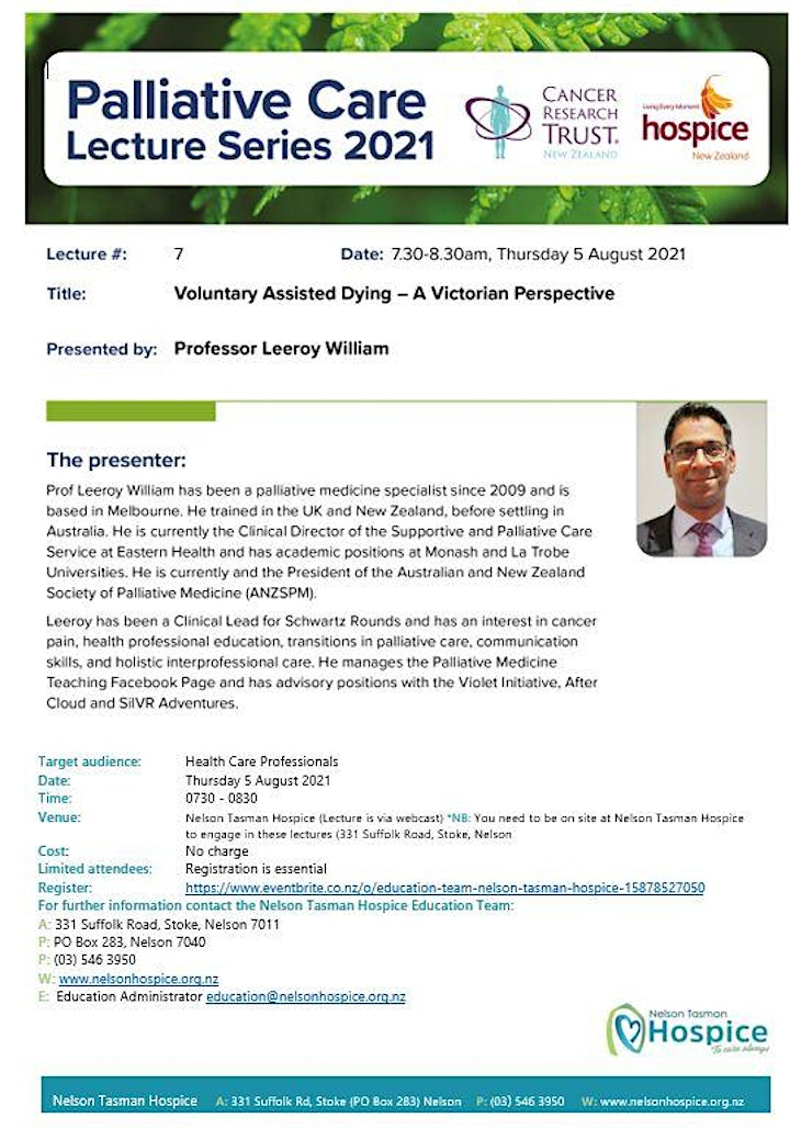 PC  Lecture Series  - Voluntary Assisted Dying – A Victorian Perspective image