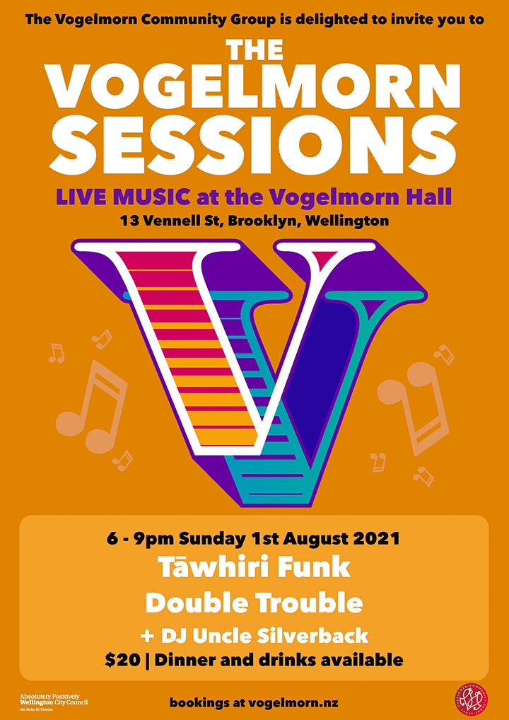 Vogelmorn Sessions are BACK! - with Tawhiri Funk and Double Trouble image