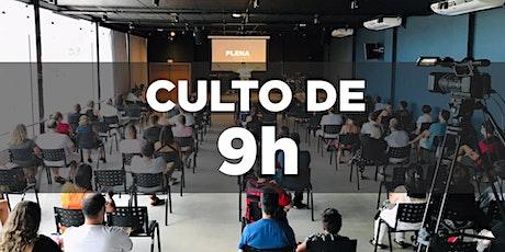 9h - Culto Presencial - Igreja Plena Oceânica - 08/08/2021 ingressos