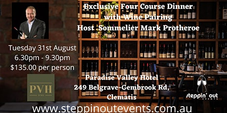 Exclusive Four Course Dinner with Wine Pairing tickets