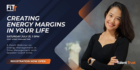 Creating Energy Margins in Your Life tickets