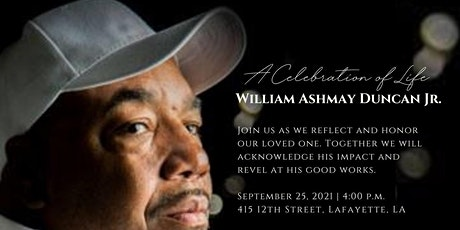Celebration of Life for William A. Duncan, Jr. tickets