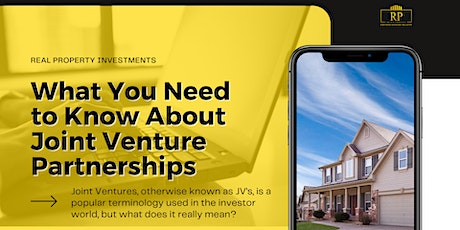 What You Need to Know  About Joint Venture Partnerships tickets