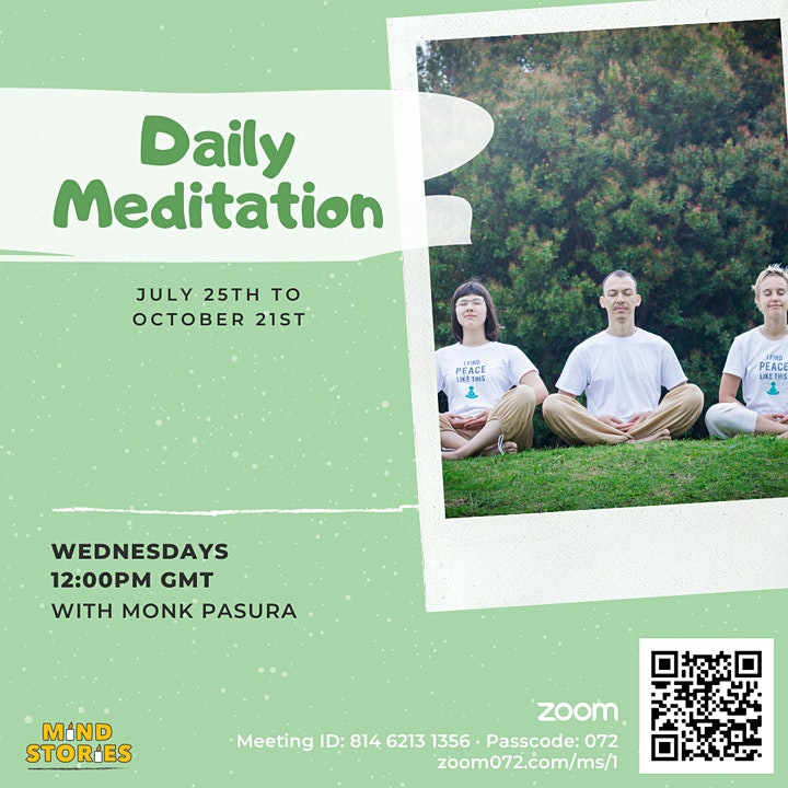 Daily Live Guided Meditation by Theravada Buddhist Monk image