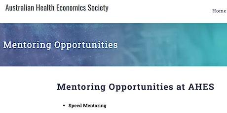 Australian Health Economics Society (AHES) Speed Mentoring Workshop 2021 tickets