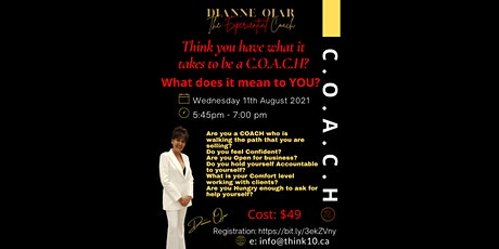 What Does C.O.A.C.H  Mean To YOU? tickets