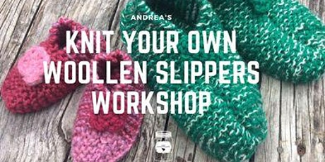 Knit your  own woolen slippers workshop tickets