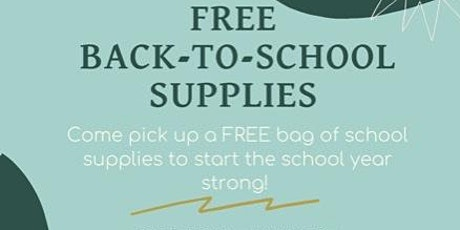 3rd Annual Back to School Supply Giveaway! tickets