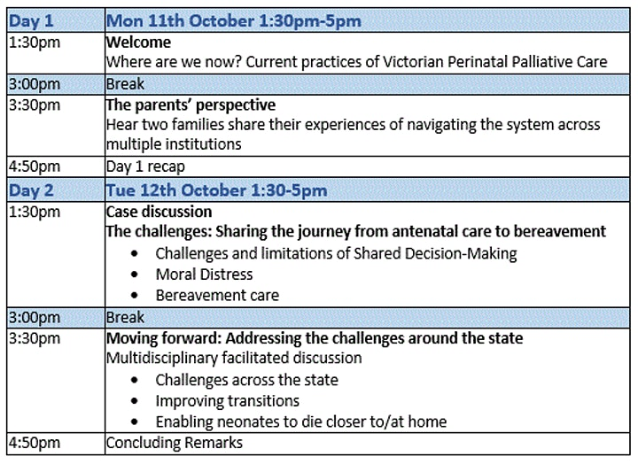 Victorian Perinatal Palliative Care Symposium image