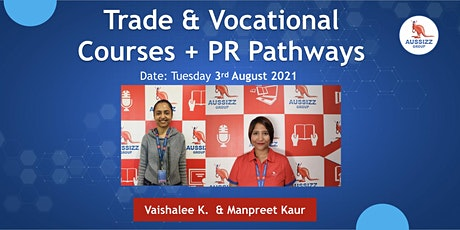 TRADE & VOCATIONAL COURSES + PR PATHWAYS tickets