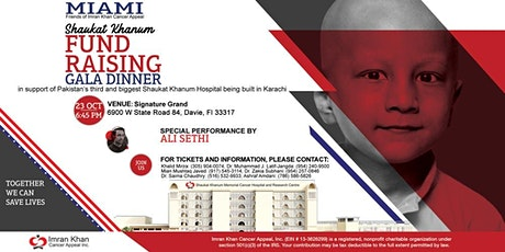 Shaukat Khanum Fundraising Gala Dinner in Miami, USA tickets