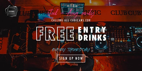 """""""Every Thur""""  Free Entry + Drinks before 12:30AM (Jul - Aug only!) tickets"""
