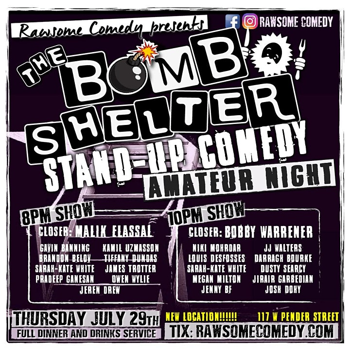 The Bomb Shelter Amateur Night | Live Stand up Comedy image