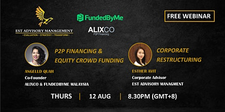 P2P FINANCING + EQUITY CROWD FUNDING & CORPORATE RESTRUCTURING tickets