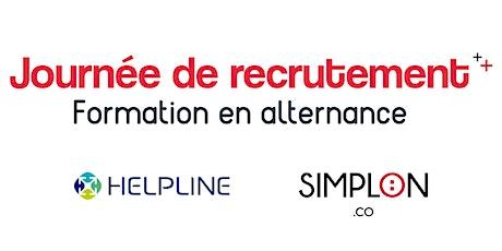 Journée de recrutement - Formation en alternance : Helpline & Simplon billets
