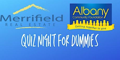 Albany Community Foundation Quiz Night for Dummies tickets
