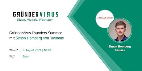 GründerVirus Founders Summer: Trainaas tickets
