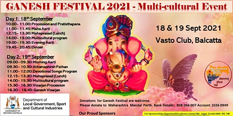 Ganesh Festival 2021 - Multi Cultural Event tickets