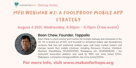 MFH Webinar #2: A Foolproof Mobile app strategy for your startup tickets