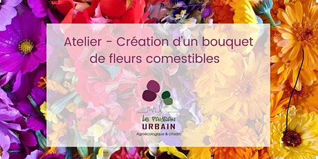 Création d'un bouquet de fleurs comestibles billets