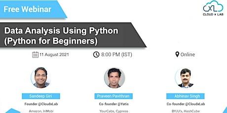 Data Analysis Using Python (Python for Beginners) tickets