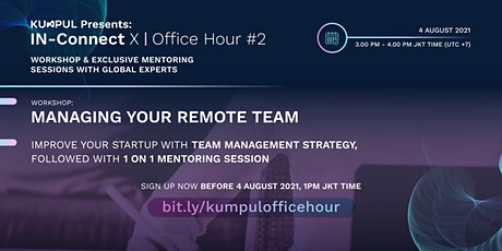IN-Connect X Workshop: Managing Your Remote Team tickets