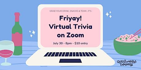 Friyay! Virtual Trivia on Zoom tickets