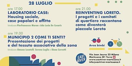 Milano ha grandi progetti x il futuro - East River mercoledì 28 luglio tickets
